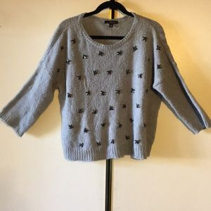 Ann Taylor Sequined Wool Sweater